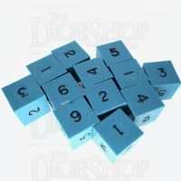 GameScience Opaque Turquoise & Black Ink 12 x D6 Dice Set