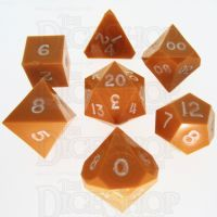 GameScience Opaque Pumpkin & White Ink 7 Dice Polyset