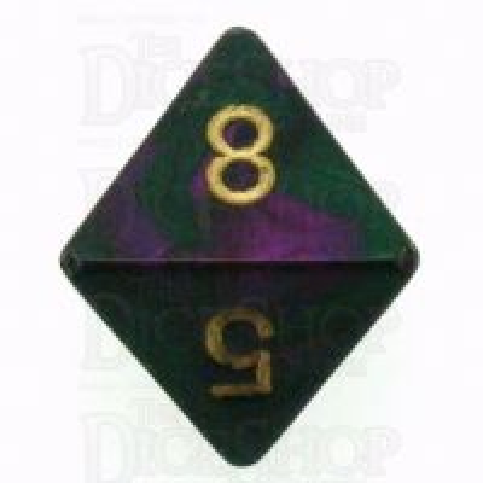 Chessex Gemini Green & Purple D8 Dice