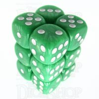TDSO Pearl Light Green & White 12 x D6 Dice Set