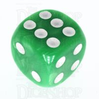 TDSO Pearl Light Green & White 16mm D6 Spot Dice
