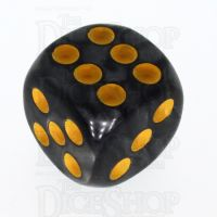 TDSO Pearl Black & Yellow 16mm D6 Spot Dice