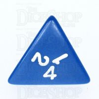 Koplow Opaque Blue & White D4 Dice