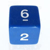 Koplow Opaque Blue & White D6 Dice