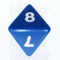 Koplow Opaque Blue & White D8 Dice