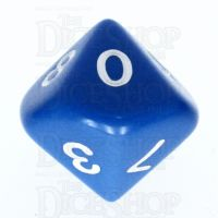 Koplow Opaque Blue & White D10 Dice
