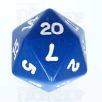 Koplow Opaque Blue & White D20 Dice