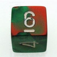 Chessex Gemini Green & Red D6 Dice