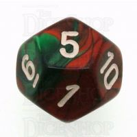Chessex Gemini Green & Red D12 Dice