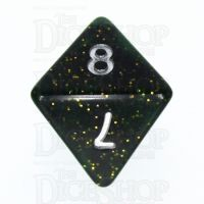 TDSO Glitter Dark Green D8 Dice