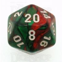 Chessex Gemini Green & Red D20 Dice