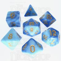 TDSO Duel Blue & Light Blue 7 Dice Polyset - Discontinued