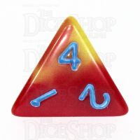 TDSO Duel Red & Yellow with Blue D4 Dice - Discontinued