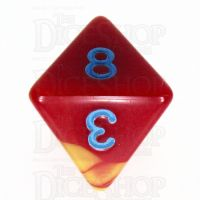 TDSO Duel Red & Yellow with Blue D8 Dice - Discontinued