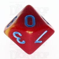 TDSO Duel Red & Yellow with Blue D10 Dice - Discontinued