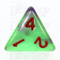 TDSO Duel Green & Purple with Red D4 Dice - Discontinued