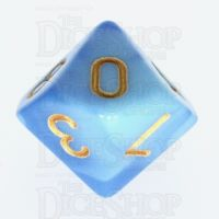 TDSO Duel Blue & Light Blue D10 Dice - Discontinued