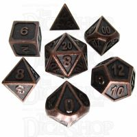 TDSO Metal Fire Forge Ancient Copper 7 Dice Polyset