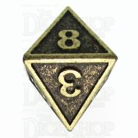 TDSO Metal Fire Forge Ancient Brass D8 Dice