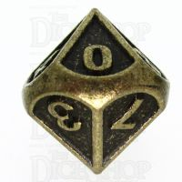 TDSO Metal Fire Forge Ancient Brass D10 Dice