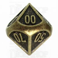 TDSO Metal Fire Forge Ancient Brass Percentile Dice