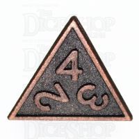 TDSO Metal Fire Forge Ancient Copper D4 Dice