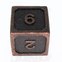 TDSO Metal Fire Forge Ancient Copper D6 Dice