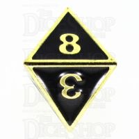 TDSO Metal Fire Forge Gold & Black Enamel D8 Dice