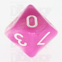 TDSO Duel Pink & Pearl White D10 Dice