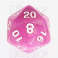 TDSO Duel Pink & Pearl White D20 Dice