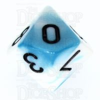 TDSO Duel Teal & White D10 Dice