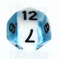 TDSO Duel Teal & White D12 Dice