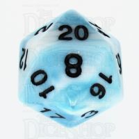 TDSO Duel Teal & White D20 Dice