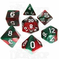 TDSO Duel Green & Red 7 Dice Polyset
