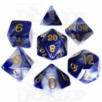 TDSO Duel Purple & Pearl White 7 Dice Polyset