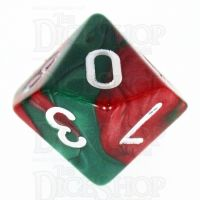 TDSO Duel Green & Red D10 Dice