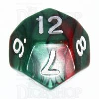 TDSO Duel Green & Red D12 Dice
