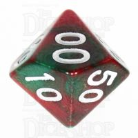 TDSO Duel Green & Red Percentile Dice
