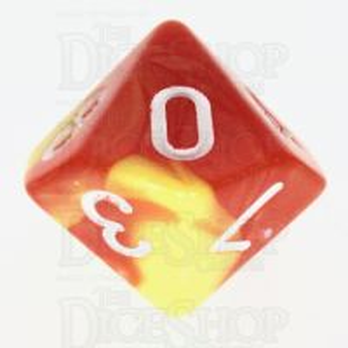 TDSO Duel Orange & Yellow D10 Dice