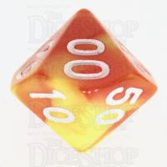 TDSO Duel Orange & Yellow Percentile Dice