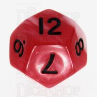 TDSO Duel Red & Pearl White with Black D12 Dice - Discontinued