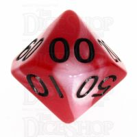 TDSO Duel Red & Pearl White with Black Percentile Dice - Discontinued