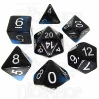 TDSO Duel Blue Dawn Glow in the Dark 7 Dice Polyset
