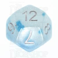 TDSO Duel Icy Rocks Glow in the Dark D12 Dice