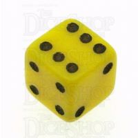 D&G Opaque Yellow MINI 7mm D6 Dice