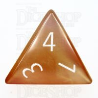 TDSO Carnelian with Engraved Numbers 16mm Precious Gem D4 Dice