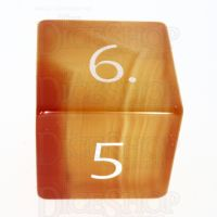 TDSO Carnelian with Engraved Numbers 16mm Precious Gem D6 Dice