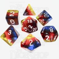 TDSO Layer Transparent Burning Sand 7 Dice Polyset