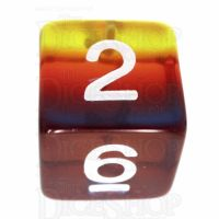 TDSO Layer Transparent Burning Sand D6 Dice