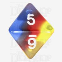 TDSO Layer Transparent Burning Sand D8 Dice